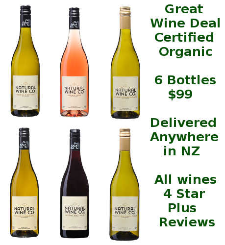 6 Bottles Organic Wine Deal Sale Gisborne