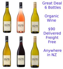 Natural Wine Co 6 bottle Deal, Organic Wines Gisborne