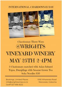 Chardonnay 3 Ways International Chardonnay Day @ Wrights Vineyard and Winery