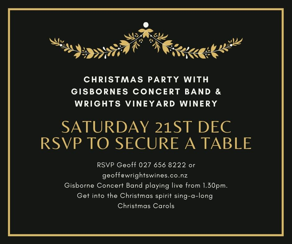Christmas Party - Gisborne Concert Band @ Wrights Vineyard and Winery